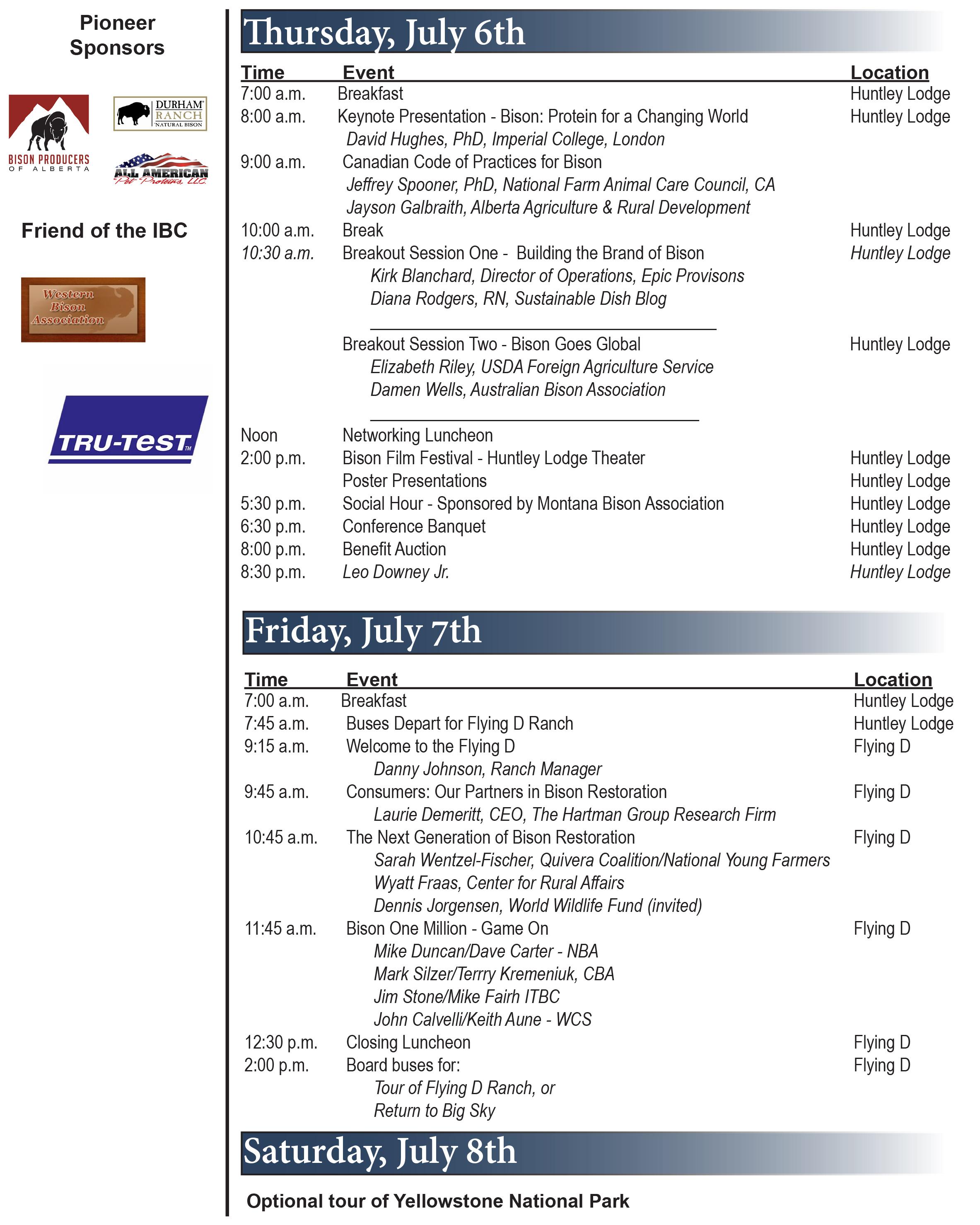 2017 International Bison Conference - National Bison Association